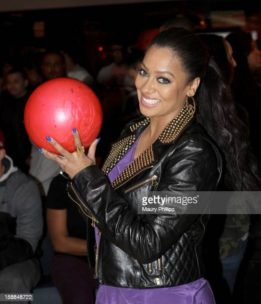 LaLa Anthony attends Real Husbands of Hollywood Celebrity Bowling Party at Lucky Strike Lanes at LA Live on December 30 2012 in Los Angeles California