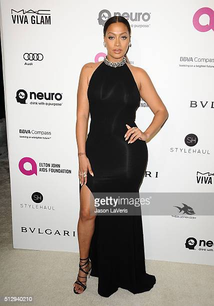 LaLa Anthony attends the 24th annual Elton John AIDS Foundation's Oscar viewing party on February 28 2016 in West Hollywood California