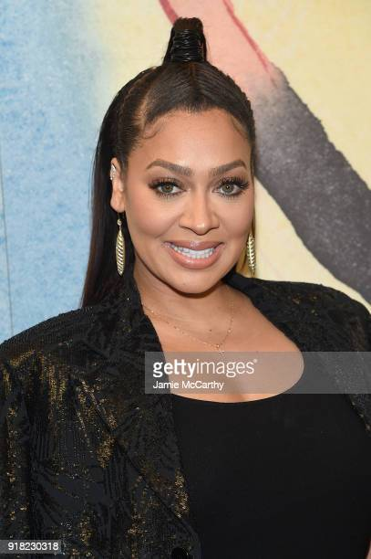 LaLa Anthony attends the Michael Kors Collection Fall 2018 Runway Show at Vivian Beaumont Theatre at Lincoln Center on February 14 2018 in New York...