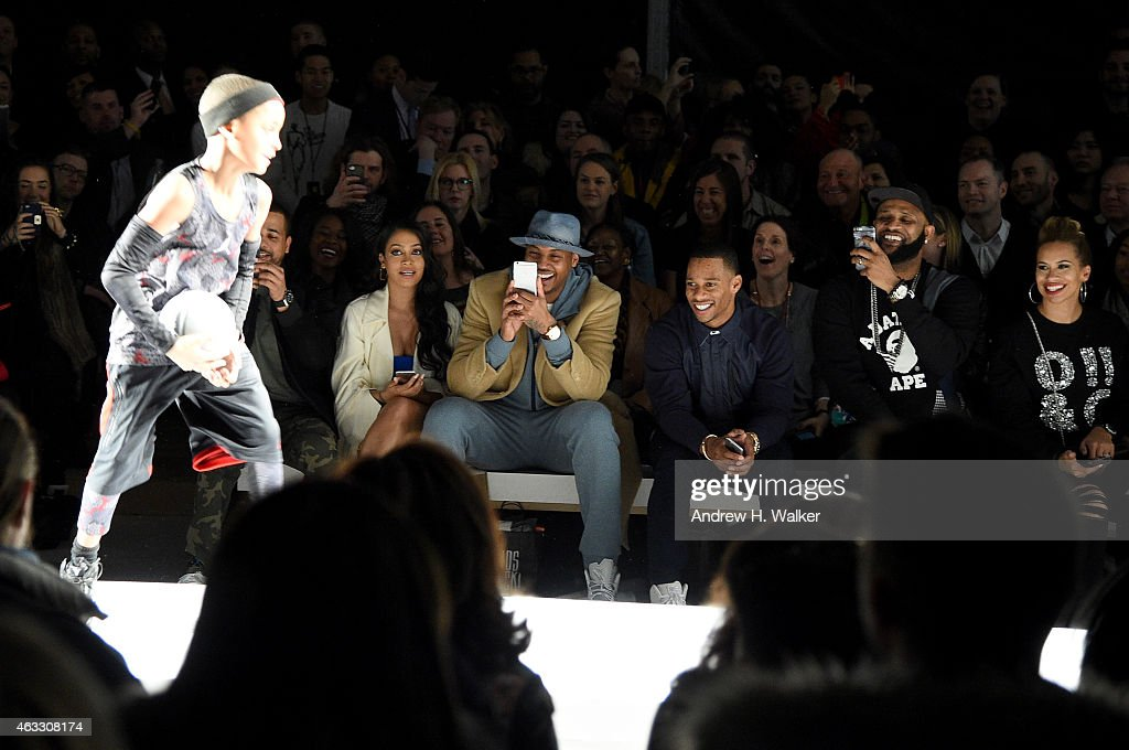 Lala Anthony, Carmelo Anthony, Victor Cruz and CC Sabathia attend Kids Rock! during Mercedes-Benz Fashion Week Fall 2015 at Lincoln Center for the Performing Arts on February 12, 2015 in New York City.