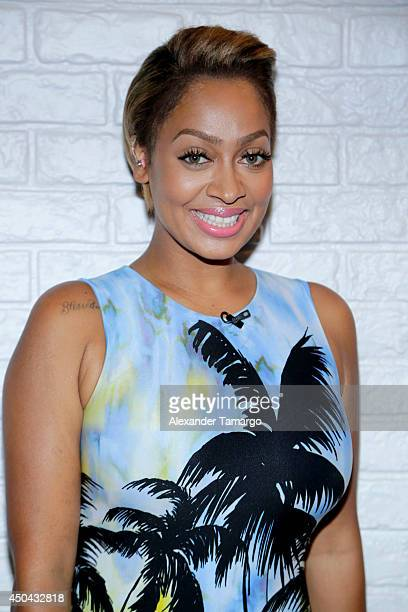 LaLa Anthony is seen on the set of Despierta America to promote the movie 'Think Like a Man Too' at Univision Headquarters on June 11 2014 in Miami...