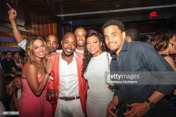 Lala Anthony Tim Story Will Packer Terrence Jenkins Tarji Henson and Michael Ealy attend Will Packer's 40th Birthday Celebration Weekend on April 12...