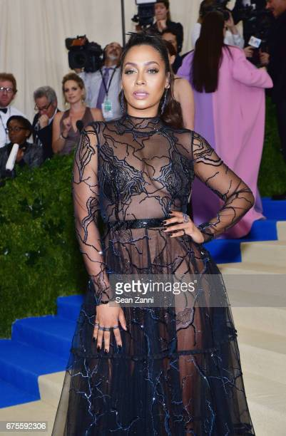 LaLa arrives 'Rei Kawakubo/Comme des Garcons Art Of The InBetween' Costume Institute Gala at The Metropolitan Museum on May 1 2017 in New York City