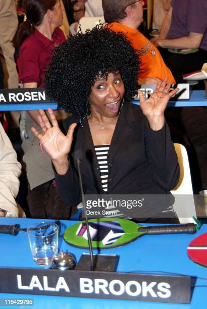 Lala Brooks during Mark Kostabi on Location for Name That Painting at Kostabi World in SOHO May 26 2006 at Kostabi World in New York City New York...