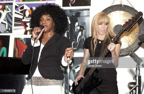 Lala Brooks of the Crystals during Mark Kostabi on Location for Name That Painting at Kostabi World in SOHO June 2 2006 at Kostabi World in New York...