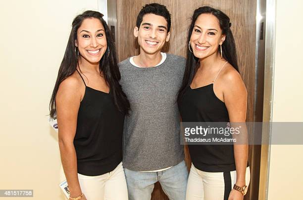 Lala Frankie P and Lulu at Austin Mahone visits 973 Hits penthouse on July 14 2015 in Miami Florida