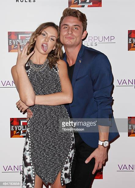 Lala Kent and James Kennedy attend the 'Vanderpump Rules' premiere party at The Church Key on October 28 2015 in West Hollywood California