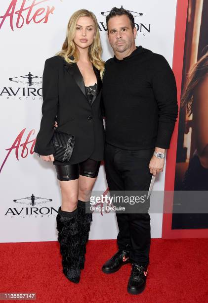 Lala Kent and Randall Emmett attend the Los Angeles Premiere Of Aviron Pictures' After at The Grove on April 8 2019 in Los Angeles California