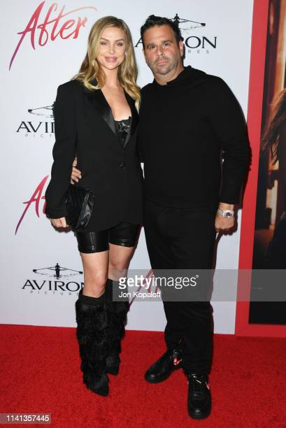 Lala Kent and Randall Emmett attend the Los Angeles premiere of Aviron Pictures' After at The Grove on April 08 2019 in Los Angeles California
