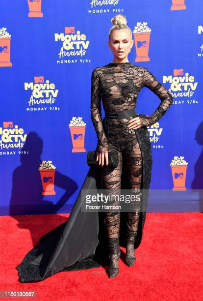 Lala Kent attends the 2019 MTV Movie and TV Awards at Barker Hangar on June 15 2019 in Santa Monica California