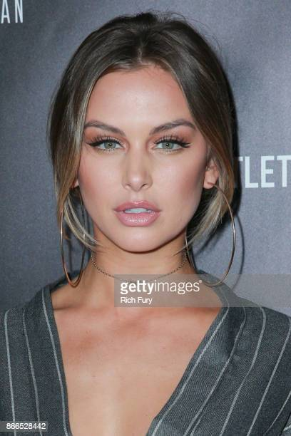 Lala Kent attends the launch of PrettyLittleThing by Kourtney Kardashian at Poppy on October 25 2017 in Los Angeles California
