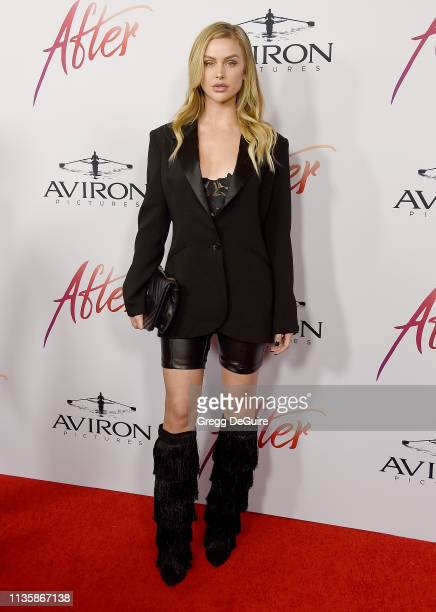 Lala Kent attends the Los Angeles Premiere Of Aviron Pictures' After at The Grove on April 8 2019 in Los Angeles California