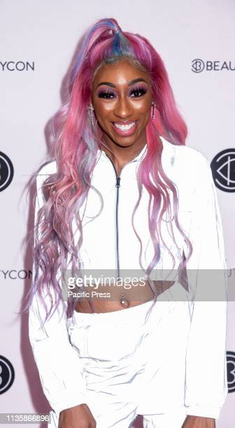 Lala Milan attends Beautycon Festival NYC 2019 at Jacob K Javits Convention Center Manhattan