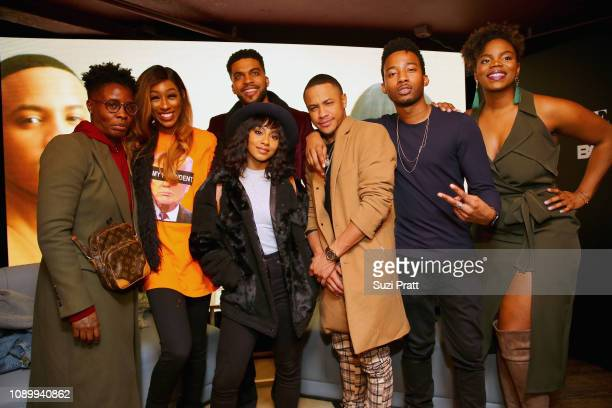 Lala Milan Leland B Martin Tetona Jackson Tequan Richmond RJ Walker and Brittany Inge attend BET Presents Boomerang Screening Fireside Chat With Lena...