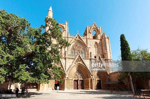 lala mustafa pasa mosque, gazimagusa - st nicholas' church stock pictures, royalty-free photos & images