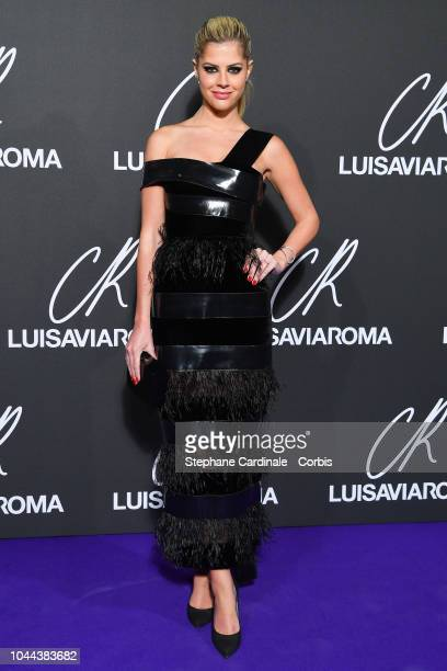 Lala Rudge attends the CR Fashion Book x LuisaViaRoma Photocall as part of the Paris Fashion Week Womenswear Spring/Summer 2019 on October 1 2018 in...