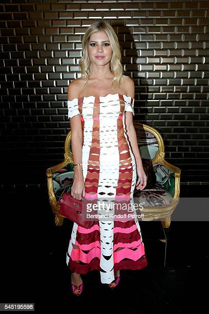 Lala Rudge attends the Jean Paul Gaultier Haute Couture Fall/Winter 20162017 show as part of Paris Fashion Week on July 6 2016 in Paris France