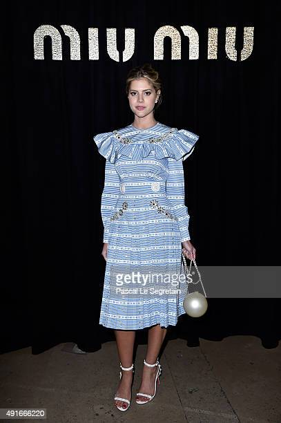 Lala Rudge attends the Miu Miu show as part of the Paris Fashion Week Womenswear Spring/Summer 2016 on October 7 2015 in Paris France