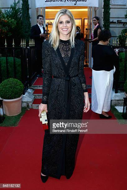 Lala Rudge attends the Re Opening of Salvatore Ferragamo Boutique at Avenue Montaigne on July 5 2016 in Paris France