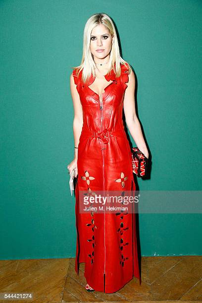 Lala Rudge attends the Ulyana Sergeenko Haute Couture Fall/Winter 20162017 show as part of Paris Fashion Week on July 3 2016 in Paris France