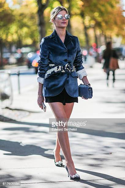 Lala Rudge is seen outside the Miu Miu show during Paris Fashion Week Spring Summer 2017 on October 5 2016 in Paris France