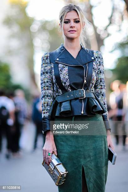 Lala Rudge is seen outside the Rochas show at the Palais de Tokyo during Paris Fashion Week Spring Summer 2017 on September 28 2016 in Paris France
