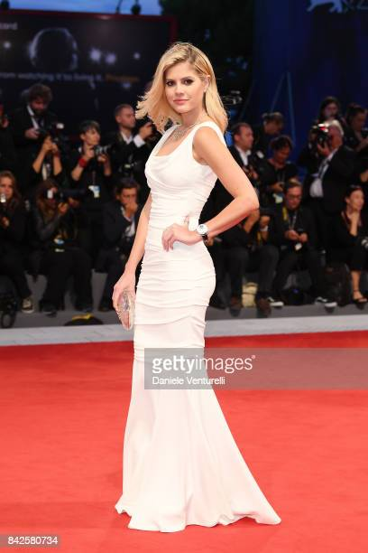 Lala Rudge walks the red carpet ahead of the 'Three Billboards Outside Ebbing Missouri' screening during the 74th Venice Film Festival at Sala Grande...
