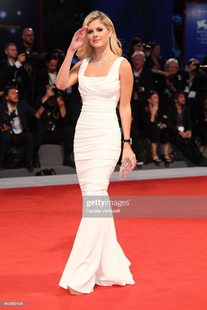 Lala Rudge walks the red carpet wearing a Jaeger-LeCoultre watch ahead of the 'Three Billboards Outside Ebbing, Missouri' screening during the 74th Venice Film Festival at Sala Grande on September 4, 2017 in Venice, Italy.