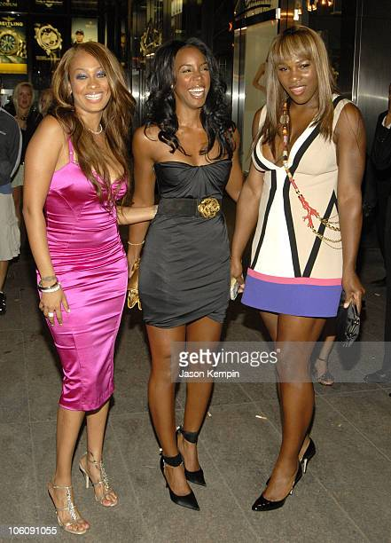 Lala Vasquez Kelly Rowland and Serena Williams during LAReid's 50th Birthday Party Arrivals June 10 2006 at Nobu Midtown in New York City New York...