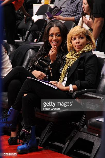 Lala Vasquez wife of Carmelo Anthony of the Denver Nuggets looks on during a game between the Denver Nuggets and the Los Angeles Clippers at Staples...