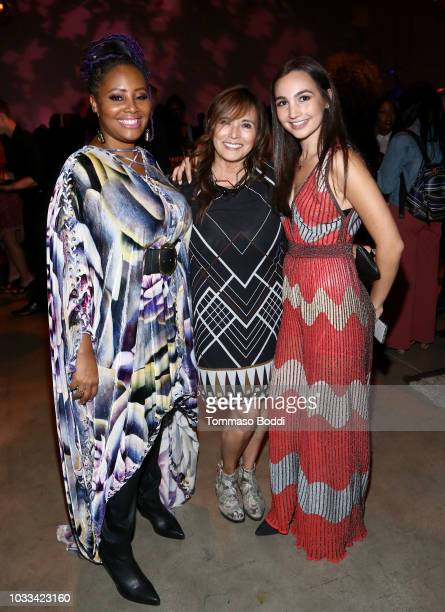 Lalah Hathaway Emily Bear and guest attend the afterparty for Netflix's Quincy Los Angeles Special Screening at NeueHouse Hollywood on September 14...