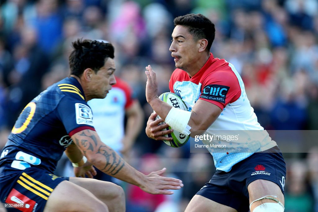 Lalakai Foketi of the Waratahs runs the ball during the Super Rugby pre-season match between the Highlanders and the Waratahs on February 2, 2018 in Queenstown, New Zealand.