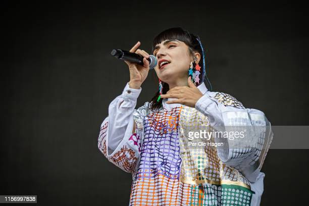Laleh onstage at the OverOslo festival on June 19 2019 in Bergen Norway