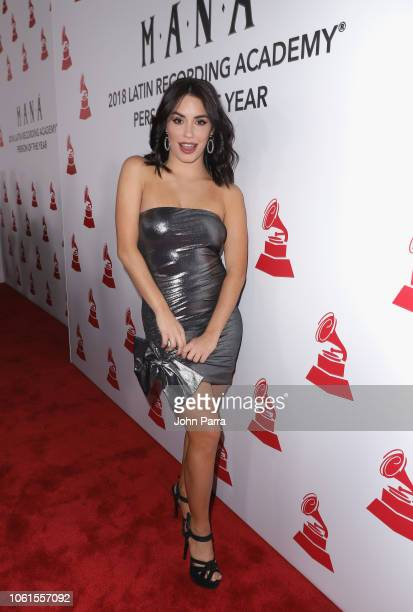 Lali Esposito attends the Person of the Year Gala honoring Mana during the 19th annual Latin GRAMMY Awards at the Mandalay Bay Events Center on...