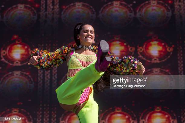 Lali Esposito performs during the third day of Lollapalooza Buenos Aires 2019 at Hipodromo de San Isidro on March 31 2019 in Buenos Aires Argentina