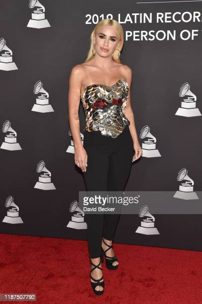 Lali Espósito attends the Latin Recording Academy's 2019 Person of the Year gala honoring Juanes at the Premier Ballroom at MGM Grand Hotel Casino on...