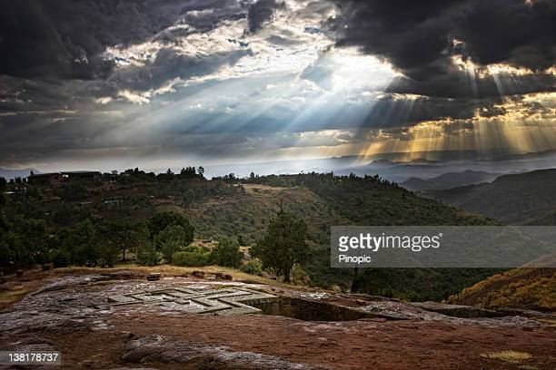 lalibela  saint giorgis church - ethiopia stock photos and pictures