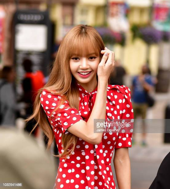 Lalisa Manoban arrives to the Michael Kors fashion show at Pier 17 on September 12 2018 in New York City