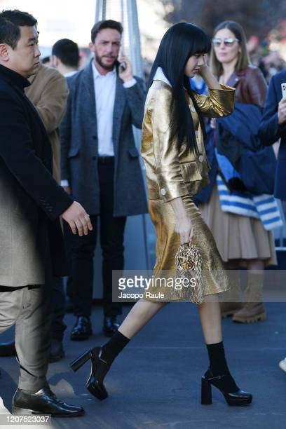 Lalisa Manoban attends the Prada fashion show on February 20 2020 in Milan Italy