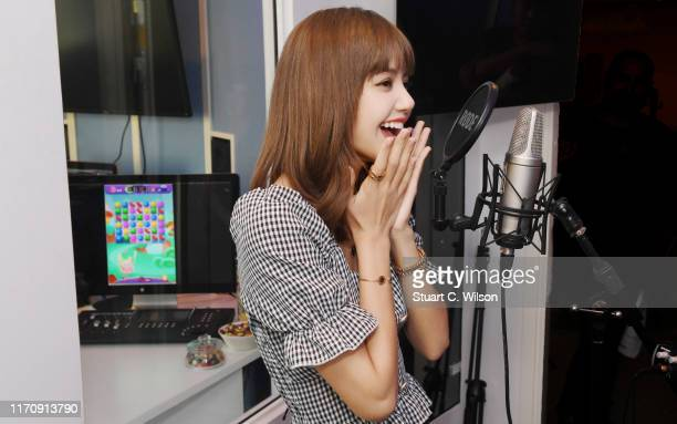 Lalisa Manoban from BLACKPINK goes behind the scenes sound testing at the King offices in Stockholm Sweden ahead of the launch of the new 'Hungry...