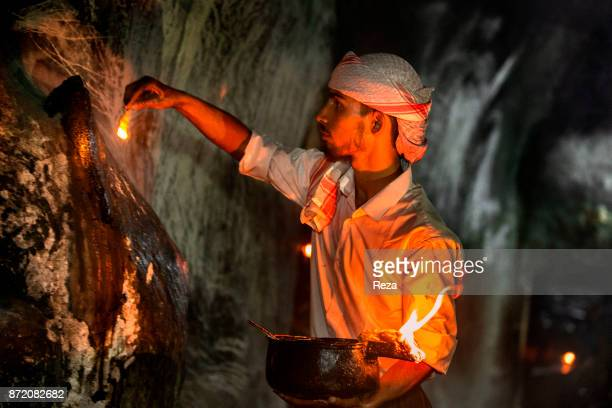 Lalish Nûranî Yazidi Temple The evening fire ritual very important to the Yazidis who venerate fire as an incarnation of the Sun on Earth Every...