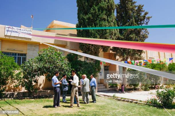 lalish yazidi cultural center in dohuk - dafos stock photos and pictures