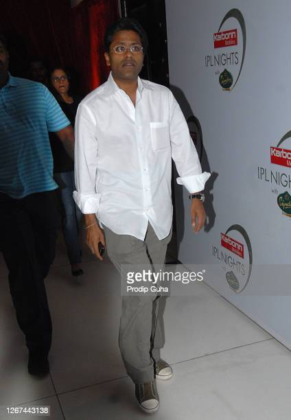 Lalit Modi attends the IPL night party on March 23,2010 in Mumbai,India