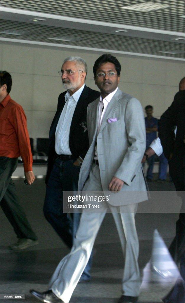 Lalit Modi, the Commissioner of IPL arrived at the Mumbai international airport on Tuesday evening. Mumbai.