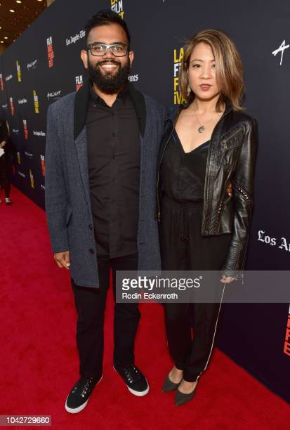 """Lalithra Fernando and Karin Anna Cheung attend the Closing Night Screening of """"Nomis"""" during the 2018 LA Film Festival at ArcLight Cinerama Dome on..."""
