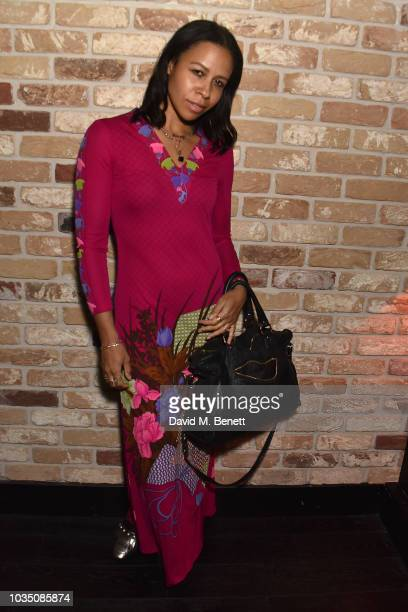 Lalla Bronshtein attends the Edeline Lee X Glass Magazine party during London Fashion Week September 2018 at Kadie's Cocktail Bar Club on September...