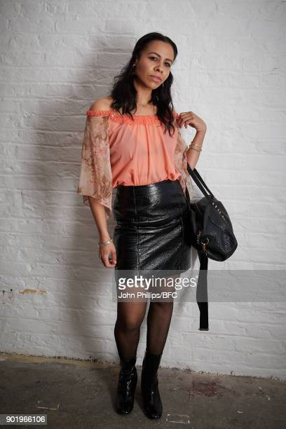 Lalla Bronshtein attends the River Island x Blood Brother Party during London Fashion Week Men's January 2018 at Hoxton Basement on January 6 2018 in...