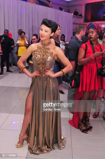Lalla Hirayama during the Black Panther movie premiere at Montecasino on February 16 2018 in Fourways South Africa Your culture in South Africa...