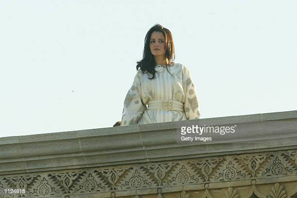 Lalla SoukeinaPrincess Lalla Meriam's daughter attends the royal wedding ceremony of Morocco's king Mohammed VI July 12 2002 in Rabat Morocco The...