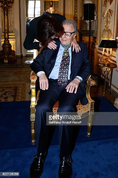 Lalo Schifrin and his wife Donna attend Composer and pianist Lalo Schifrin receives the Medal of Commander of Arts and Letters at Ministere de la...